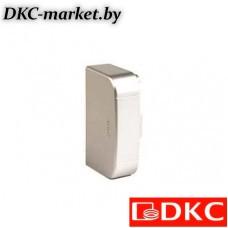 01405G Заглушка 140х50 мм, цвет серый металлик