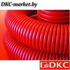 120911 Двустенная труба ПНД гибкая для кабельной канализации д.110мм без протяжки, SN8, в бухте 50м, цвет красный