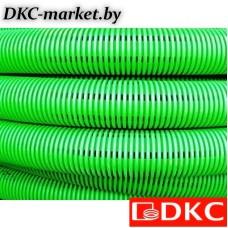 140916-8K Двустенная труба ПНД гибкая дренажная д.160мм, SN8, перфорация 360град., в бухте 50м, цвет зеленый