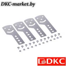 30015KHDZL Пластина крепежная GSV H100 (4 шт.) в комплекте с метизами, необходимымидля монтажа, цинк-ламельная