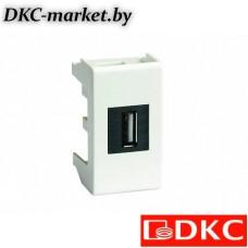 42018 USB 2.0 розетка, Viva, белая, 1 мод.