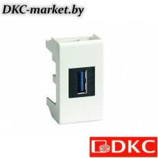 43018 USB 3.0 розетка, Viva, белая, 1 мод.