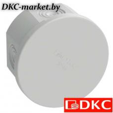 53600R Коробка ответвит. с 4 кабельными вводами д.20мм, IP44, д.80х40мм (розница)