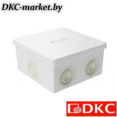 53700R Коробка ответвит. с 6 кабельными вводами д.20мм, IP44, 80х80х40мм (розница)