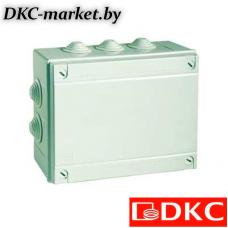 53800R Коробка ответвит. с 6 кабельными вводами д.25мм, IP55, 100х100х50мм (розница)