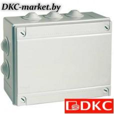 53900 Коробка ответвит. с 6 кабельными вводами д.25мм, IP55, 120х80х50мм
