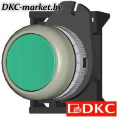 ABDTM2 Кнопка плоская с фиксацией, зеленая