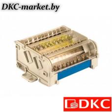 BD10074 Блок распределительный на DIN рейку 4р 100А, 5х6мм 2х7,5мм.