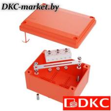 FSB10404 Коробка пластиковая FS с гладкими стенками и клеммниками, IP56,100х100х50мм, 4р, 450V,6A, 4мм.кв
