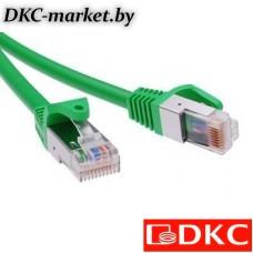 RN5EFU4510GN Патч-корд экранированный CAT5E F/UTP 4х2, LSZH, зелёный, 1.0м