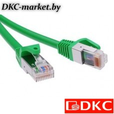 RN6FU4500GN Патч-корд экранированный CAT6 F/UTP 4х2, LSZH, зелёный, 10.0м